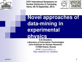 Novel approaches of data-mining in experimental physics