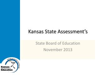 Kansas State Assessment's