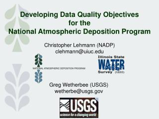 Developing Data Quality Objectives for the National Atmospheric Deposition Program
