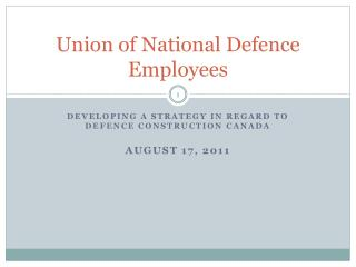 Union of National Defence Employees