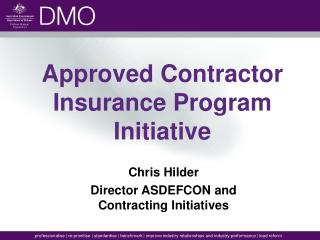 Approved Contractor Insurance Program Initiative