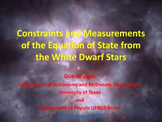 Constraints and Measurements of the Equation of State from the White Dwarf Stars