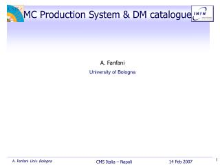 MC Production System & DM catalogue