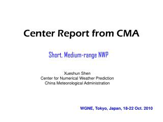 Center Report from CMA