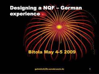 Designing a NQF – German experience