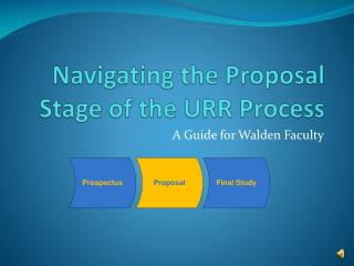 Navigating the Proposal Stage of the URR Process