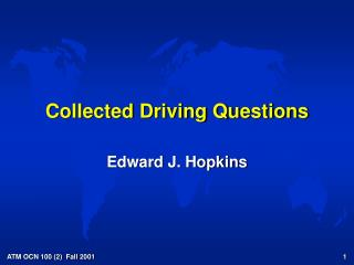 Collected Driving Questions