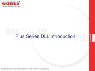 Plus Series DLL Introduction