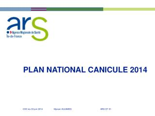 PLAN NATIONAL CANICULE 2014