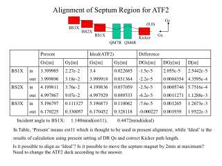 Alignment of Septum Region for ATF2