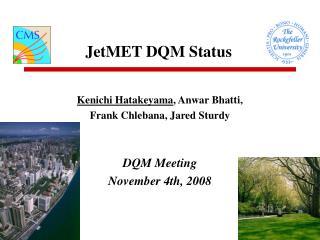 JetMET DQM Status