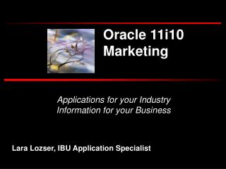 Applications for your Industry Information for your Business