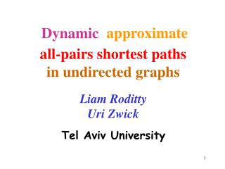all-pairs shortest paths  in undirected graphs