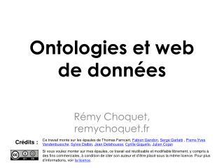 Ontologies et web de données
