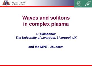 Waves and solitons  in complex plasma