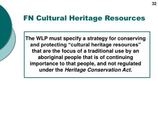 FN Cultural Heritage Resources