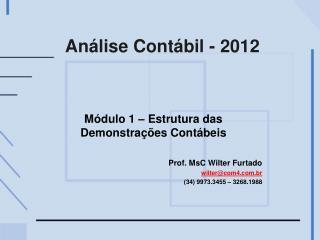 Análise Contábil - 2012