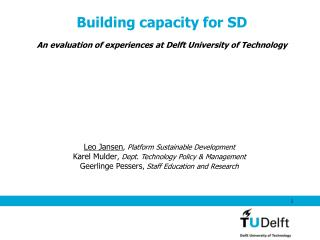Building capacity for SD