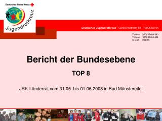 Deutsches Jugendrotkreuz  - Carstennstraße 58 - 12205 Berlin