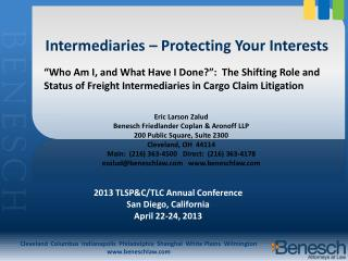 Intermediaries – Protecting Your Interests