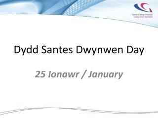 Dydd Santes Dwynwen Day
