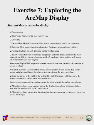 Exercise 7: Exploring the ArcMap Display