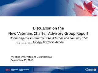 Meeting with Veterans Organizations September 15, 2010