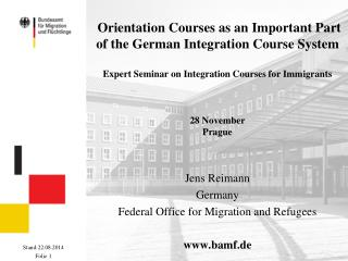 Jens Reimann Germany Federal Office for Migration and Refugees bamf.de