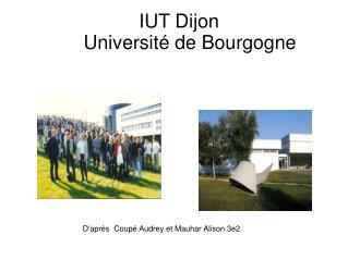 IUT Dijon        Université de Bourgogne
