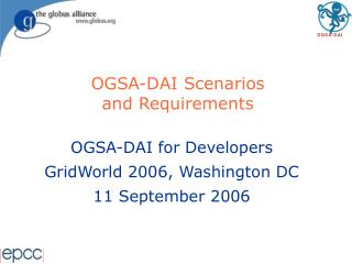 OGSA-DAI Scenarios  and Requirements