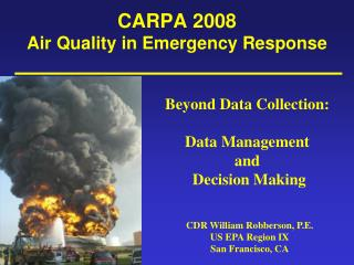 CARPA 2008 Air Quality in Emergency Response