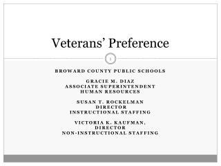 Veterans� Preference