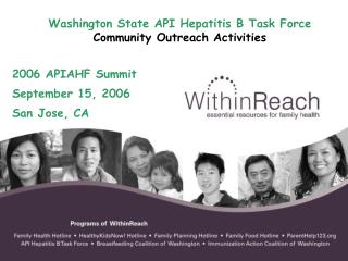 Washington State API Hepatitis B Task Force Community Outreach Activities