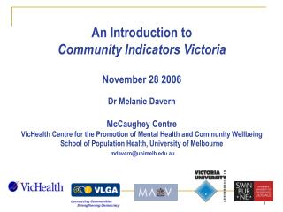Local community wellbeing indicators…