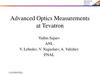Advanced Optics Measurements at Tevatron