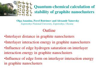 Quantum-chemical calculation of stability of graphite nanoclusters