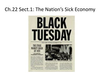 The Nation s Sick Economy