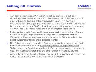 Auftrag SIL Prozess