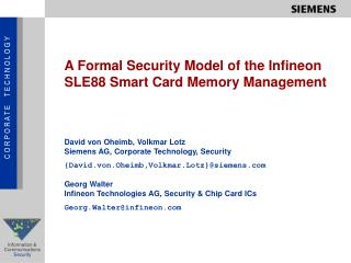 A Formal Security Model of the Infineon SLE88 Smart Card Memory Management
