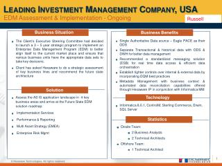 Leading Investment Management Company, USA