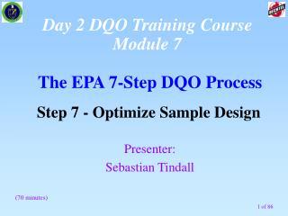 The EPA 7-Step DQO Process