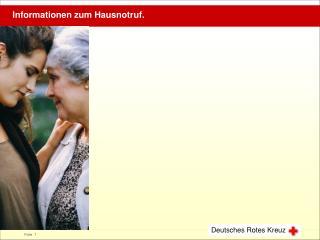 Informationen zum Hausnotruf.