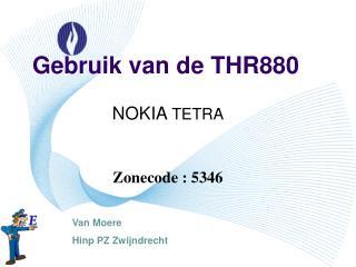 Gebruik van de THR880