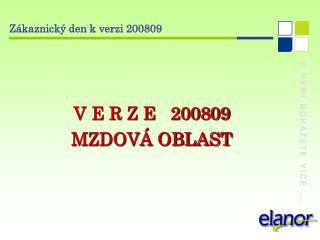 Zákaznický den k verzi 200809