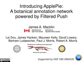 Introducing ApplePie: A botanical annotation network powered by Filtered Push
