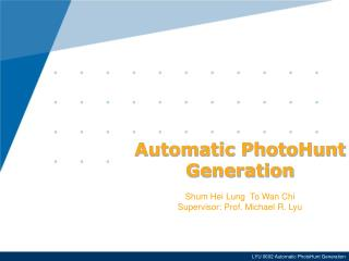 Automatic PhotoHunt Generation
