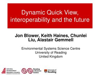 Dynamic Quick View, interoperability and the future