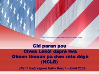 Distri lekòl rejyon Palm Beach - April 2009