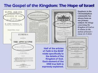 The Gospel of the Kingdom: The Hope of Israel