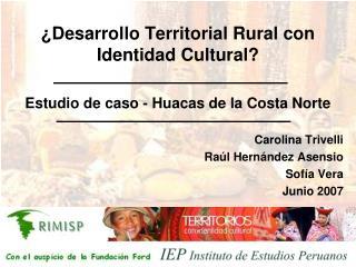 ¿Desarrollo Territorial Rural con Identidad Cultural?